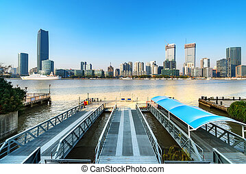 Shanghai city landscape - Shanghai's tall buildings and the...