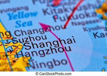 Shanghai City on the Map