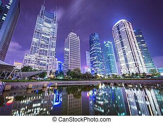 Shanghai Cityscape - Shanghai, China cityscape from Binjiang...