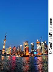 Shanghai cityscape - SHANGHAI, CHINA - JUNE 2: Crowded urban...
