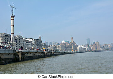 Shanghai - The Bund or Waitan - SHANGHAI, CN - MAR 17...