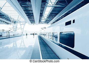 shanghai, estación de tren