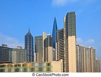 shanghai, gratte-ciel