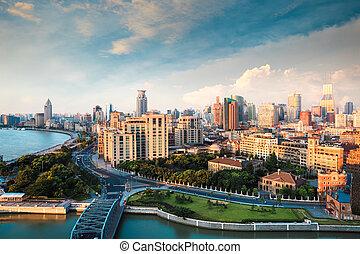 shanghai in the morning