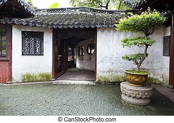 shanghai, jardin, traditionnel