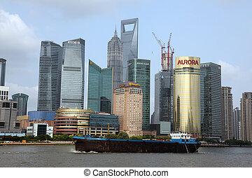 shanghai, juney, gát, tíz, vonzások, tető, 15:, shanghai, pudong, egy, -, láthatár, kína, kilátás, június, 15, 2012