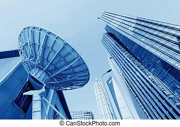 shanghai, kína, felhőkarcoló
