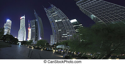 Shanghai Lujiazui Finance & City landmark buildings Urban night landscape
