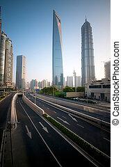 shanghai, moderne, infrastructuur