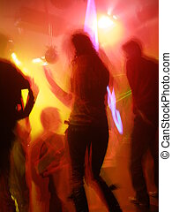 Shanghai Nightlife; unrecognisable people in a disco