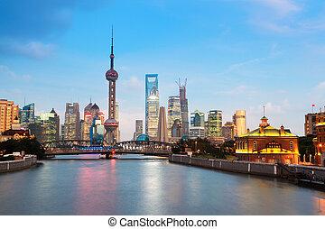 shanghai, nuit, beau
