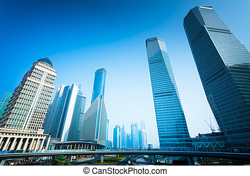 shanghai office building - office building,landmark of...