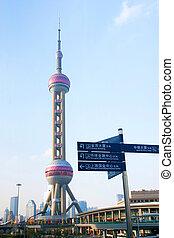 shanghai, oosters, toren, parel