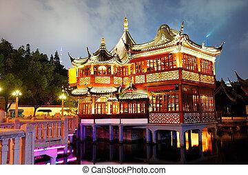 shanghai, pagode, bâtiment