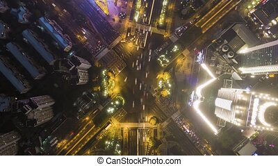 shanghai, porcelaine, complexe, intersection route