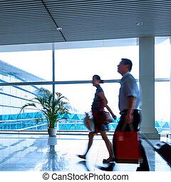 Shanghai Pudong Airport passengers