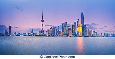 shanghai, pudong, contorno