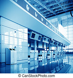 Shanghai Pudong International Airport baggage screening at...