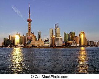 shanghai, pudong, kína