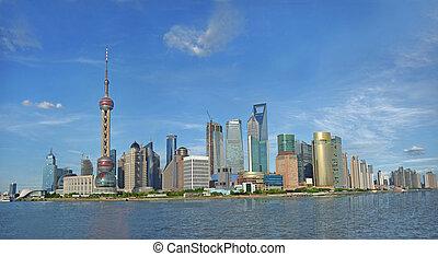 Shanghai Pudong panoram