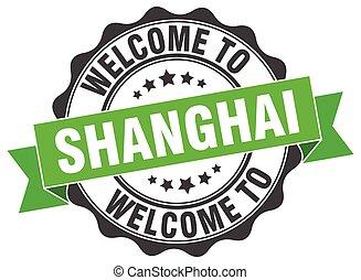 shanghai, redondo, cinta, sello