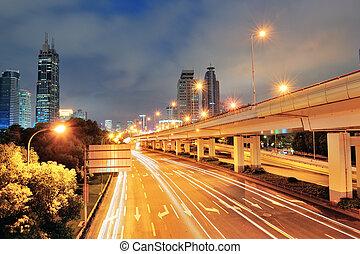 shanghai, rue, vue