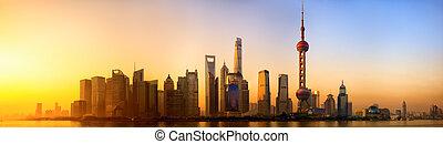 shanghai, salida del sol