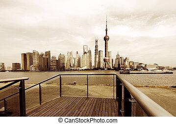 shanghai skyline - modern city skyline ,shanghai pudong,...