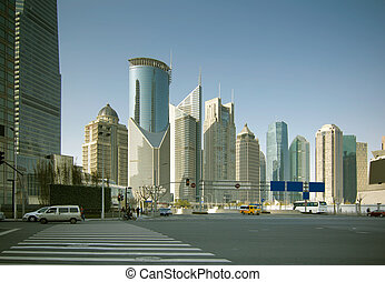 shanghai - the scene of the century avenue in...