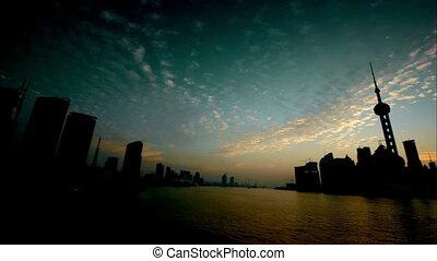 shanghai timelapse - shanghai landmark.