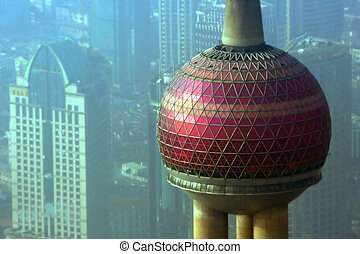 Shanghai TV Tower - Close-up on Shanghai TV tower