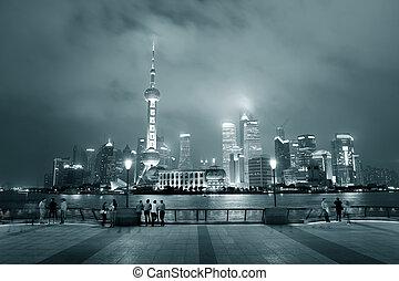 Shanghai urban city skyline