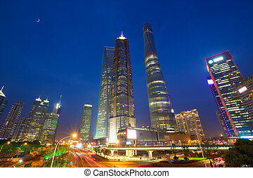 Shanghai urban skyscrapers