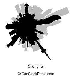 Shanghai vector circular skyline