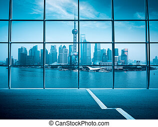 shanghai window outside view - outside the window panoramic ...