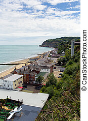 Shanklin town Isle of Wight England UK, popular tourist and...