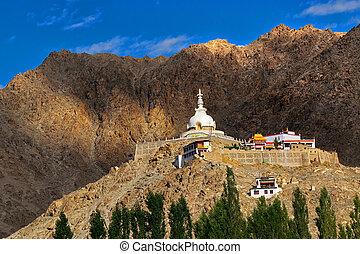 Shanti Stupa, Ladakh, Jammu and Kashmir, India