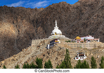 Shanti Stupa, Leh, Ladakh, Jammu and Kashmir, India