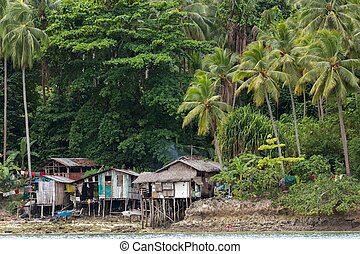 Shanty homes in Philippines