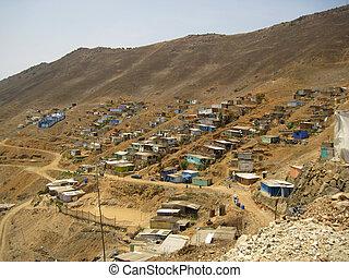 Shanty Town in  Lima, Peru, South America