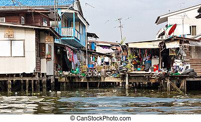 shanty-town, tailandia