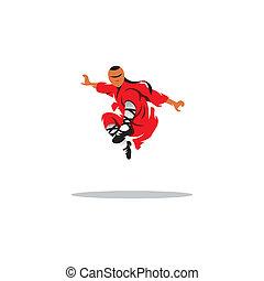 Shaolin monk veector sign - Shaolin kung fu martial arts...