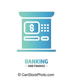 Shape design finance icon ATM