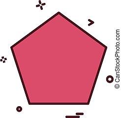 Shape icon design vector