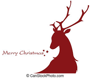 shape of a reindeer