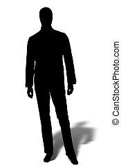 shape of businessman isolated on white