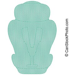 Shape Of Child Car Seat Isolated On A White Background. Vector Illustration.