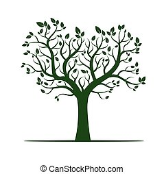 Shape of Green Tree. Vector Illustration.