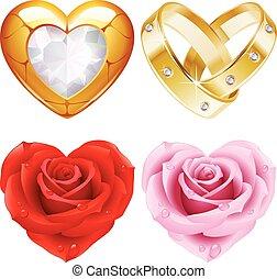 Shape of heart set