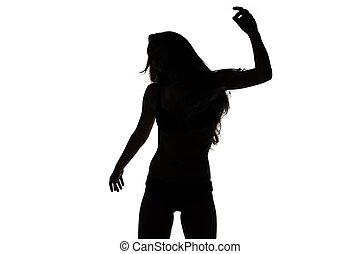 Shape of sexy dancing girl